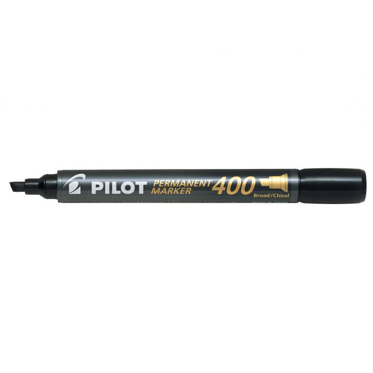 Pilot SCA-400 Broad Permanent Marker - Black (pkt/12pcs)