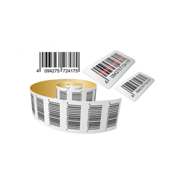 Kimoha Barcode Labels 70mm x 32mm 1000-labels/roll - White (roll)