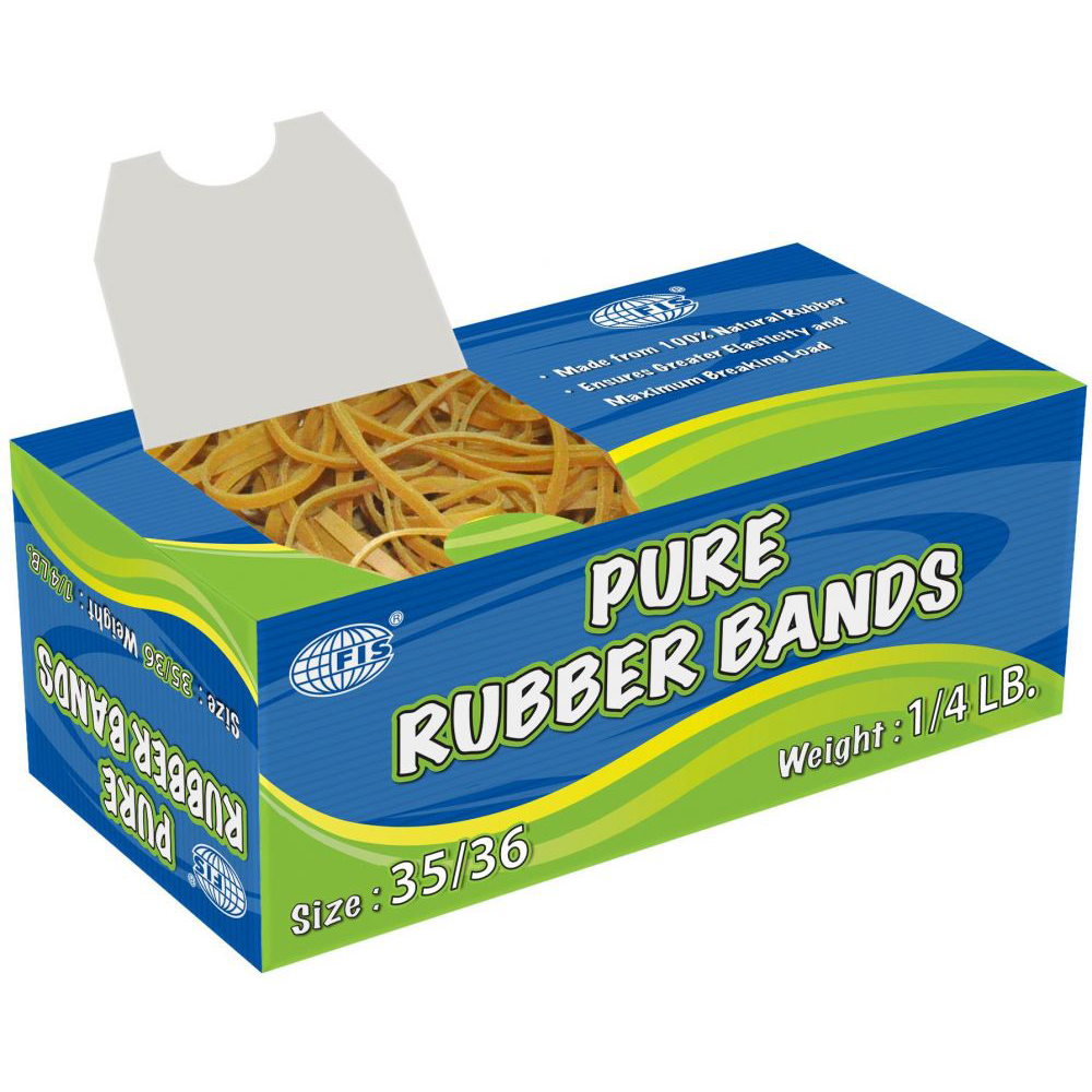 FIS Pure Rubber Bands 35/36 1/4lb - FSRB35/36 (pkt)