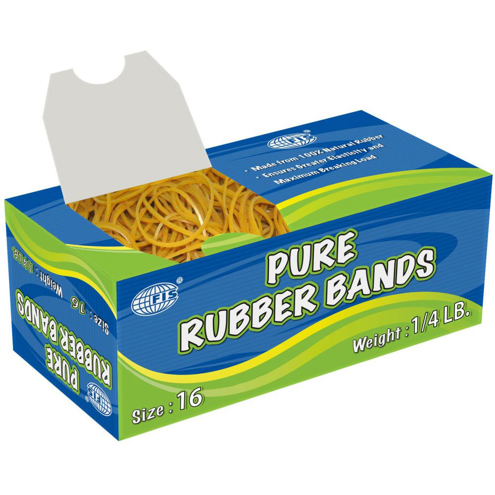 FIS Pure Rubber Bands No. 16 1/4lb - FSRB16 (pkt)