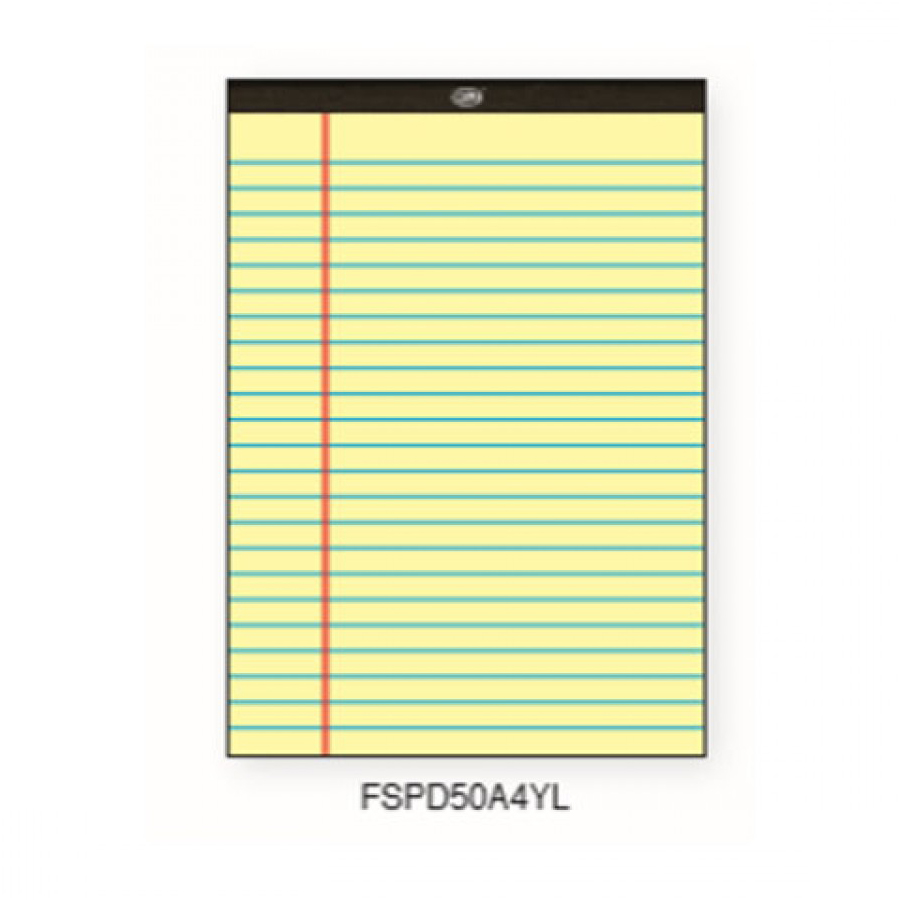 FIS Writing Pad A4 FSPD50A4YL - Yellow (pc)