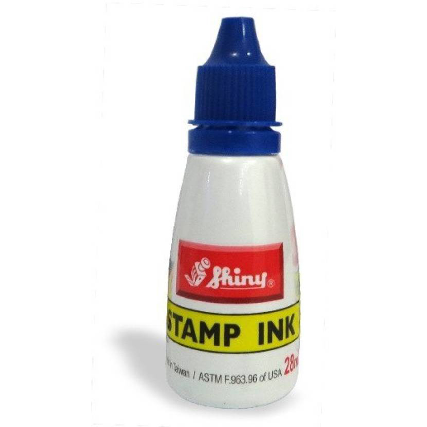 Shiny S-63 Stamp Ink Bottle 28ml - Blue (pc)