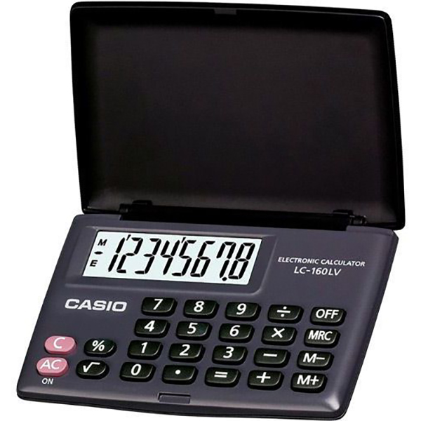 Casio LC-160LV Pocket Calculator - Black