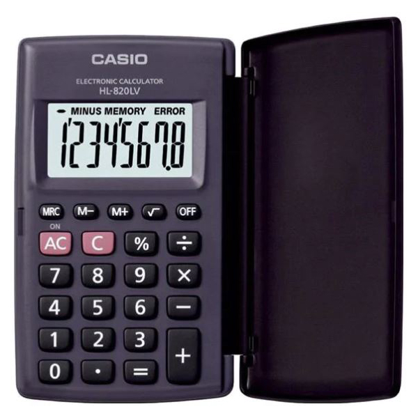 Casio HL-820LV Pocket Calculator - Black