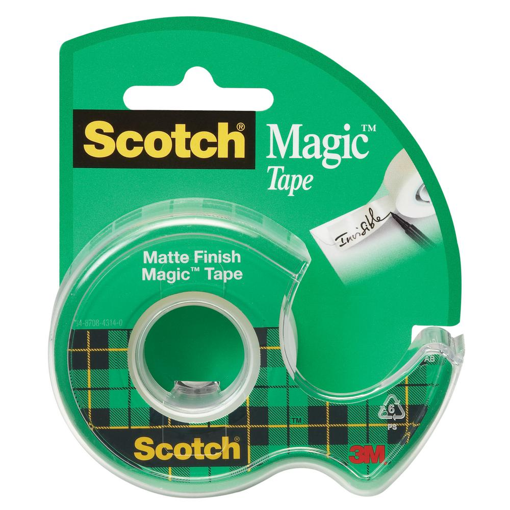 3M Scotch 105NA Magic Transparent Tape - 3/4in x 8.3yds (pkt/10pc)