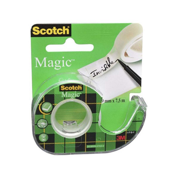 3M Scotch 103-NA Magic Tape - 19mm x 4m (pkt/12pc)
