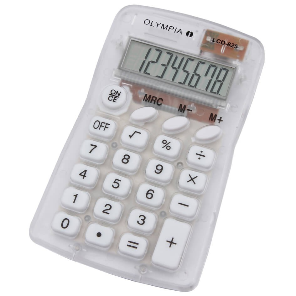 Olympia LCD 825 8-Digit Pocket Calculator - Clear