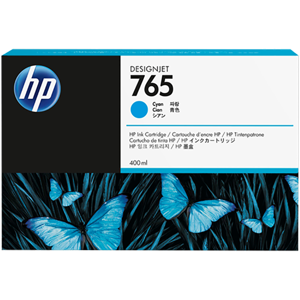 HP HP 765 400-ml Designjet Ink Cartridge (F9J52A) - Cyan