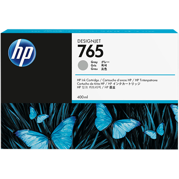 HP HP 765 400-ml Designjet Ink Cartridge (F9J53A) - Gray