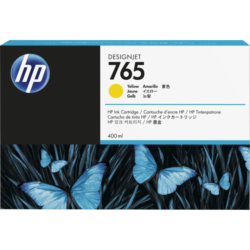 HP HP 765 400-ml Designjet Ink Cartridge (F9J50A) - Yellow