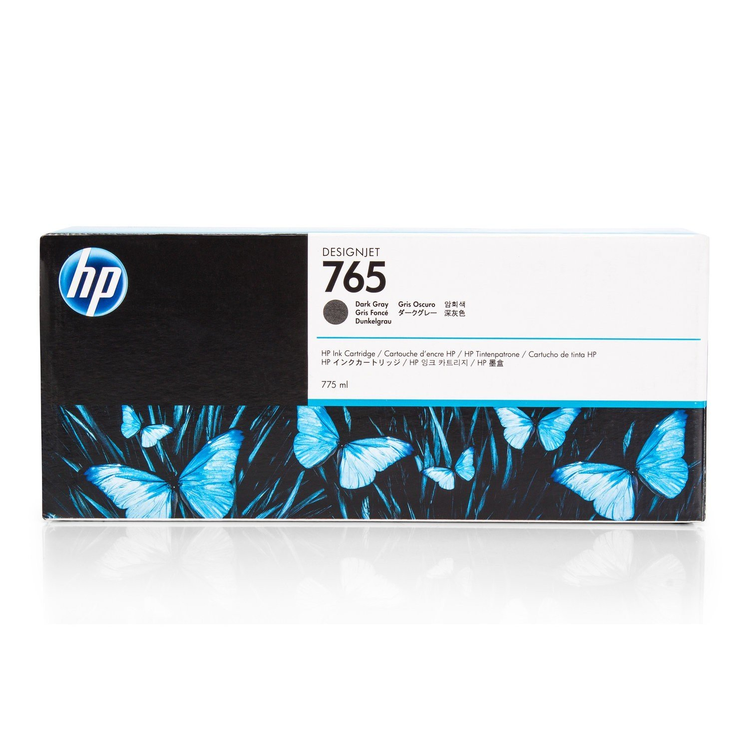 HP 765 775-ml Designjet Ink Cartridge (F9J54A) - Dark Gray