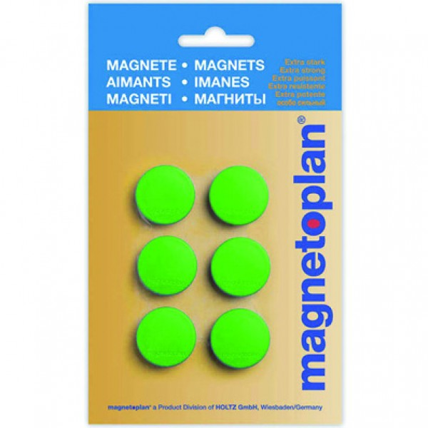 Magnetoplan COP 16645605 Magnetic Discofix Hobby (on blister) - Green (pkt/6pcs)