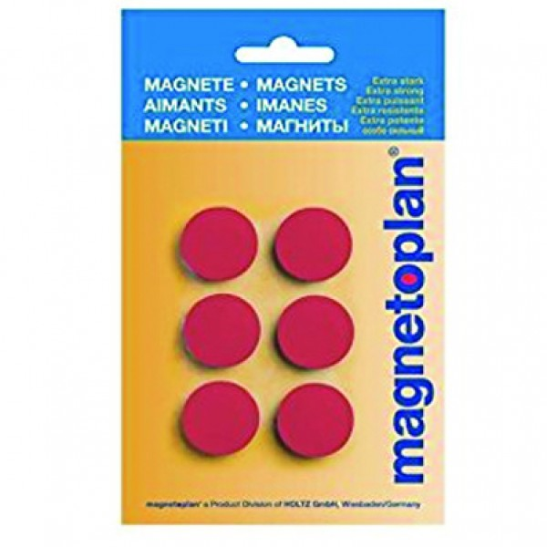 Magnetoplan COP 16621306 Magnetic Discofix Hobby (on blister) - Red (pkt/6pcs)