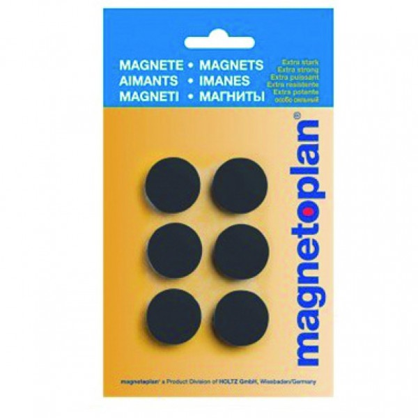 Magnetoplan COP 16621312 Magnetic Discofix Hobby (on blister) - Black (pkt/6pcs)
