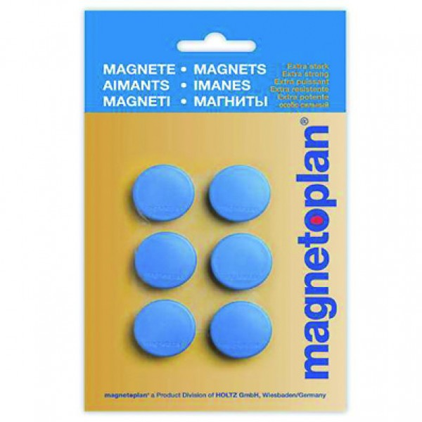 Magnetoplan COP 16645614 Magnetic Discofix Hobby (on blister) - Dark Blue (pkt/6pcs)