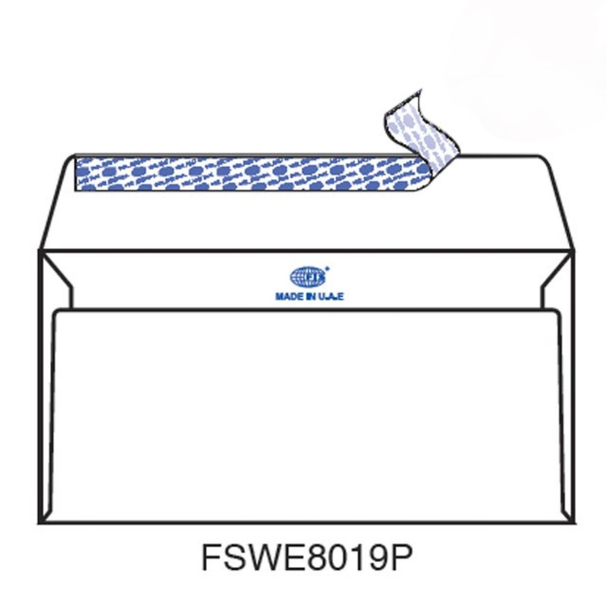 FIS Peel & Seal Envelope 80gsm 115mm x 225mm FSWE8019P - White (box/500pcs)
