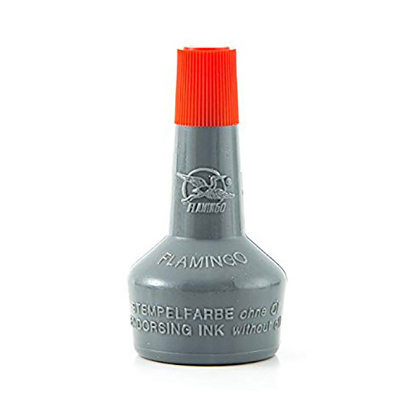 Flamingo Stamp Pad Ink (Without Oil) 30ml - Red (pc)