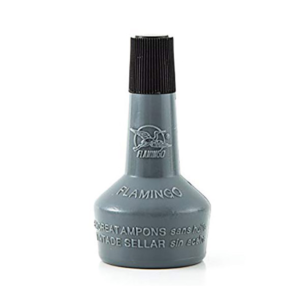 Flamingo Stamp Pad Ink (Without Oil) 30ml - Black (pc)