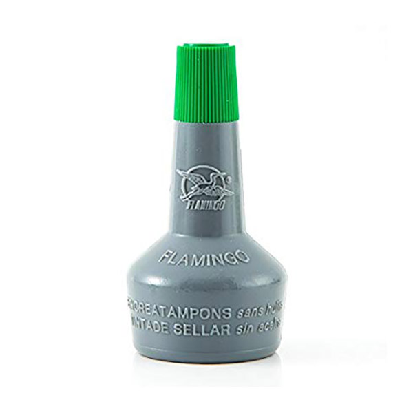 Flamingo Stamp Pad Ink (Without Oil) 30ml - Green (pc)
