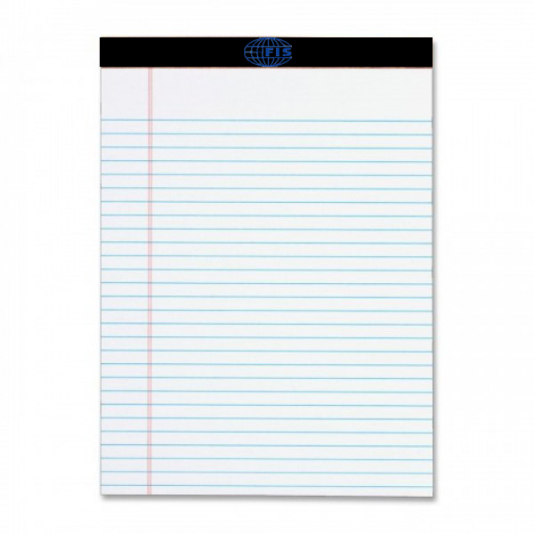 FIS FSPD50A4W A4 Writing Pad - White (pc)