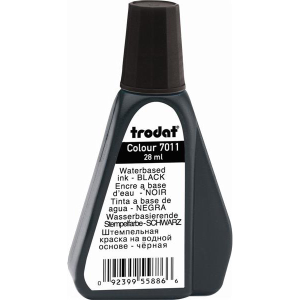 Trodat 7011 Water-based Ink 28ml - Black (pc)