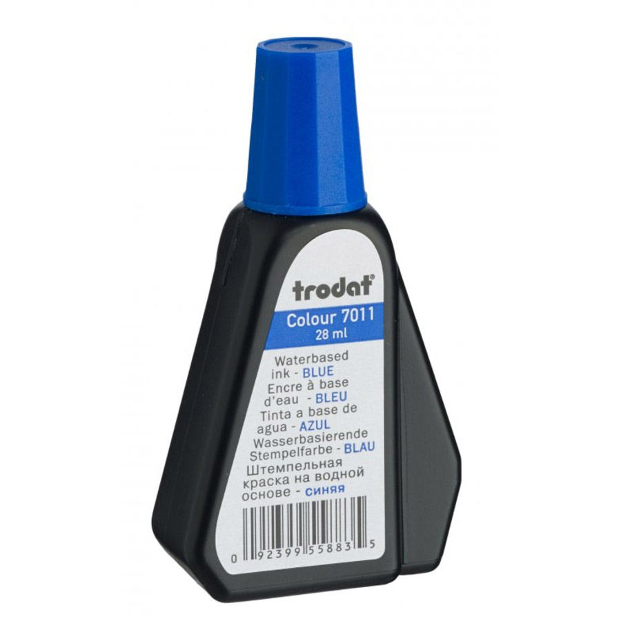 Trodat 7011 Water-based Ink 28ml - Blue (pc)