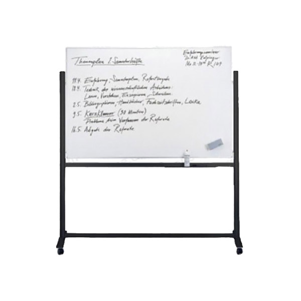 Partner DSB9012 Double-Sided Magnetic Whiteboard with Stand 90cm x 120cm - White (pc)