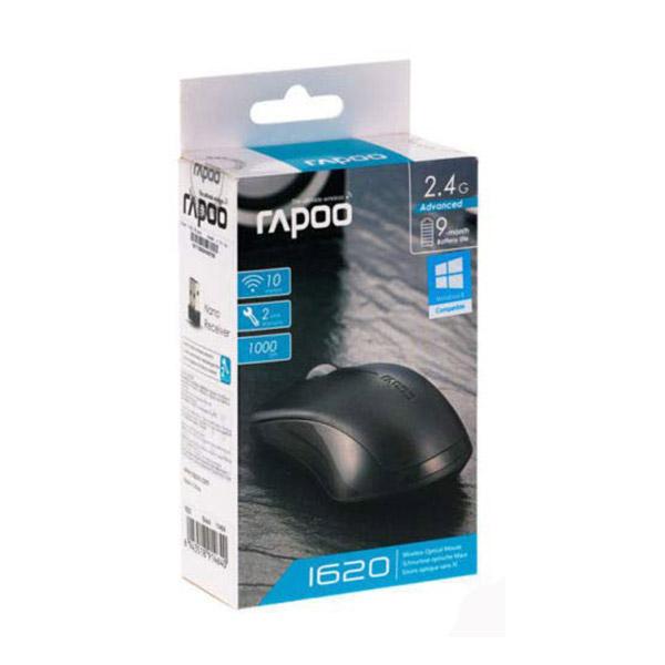 Rapoo Mouse Wireless Optical 1620 - Black