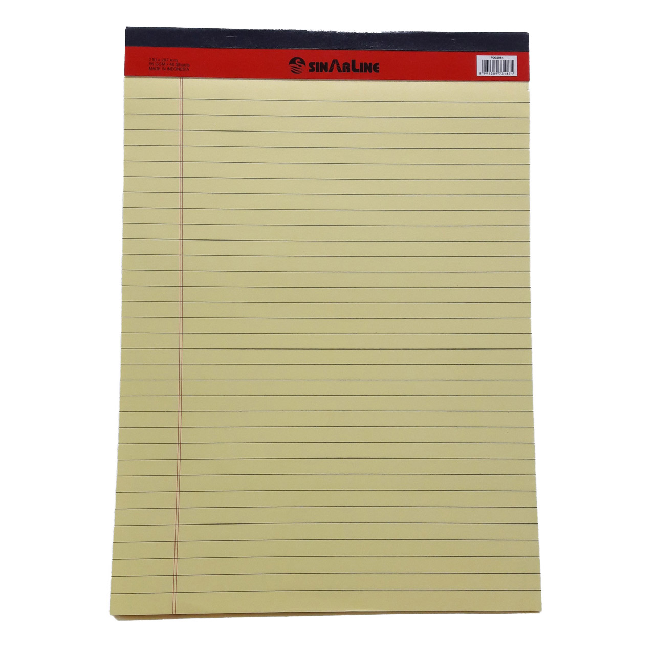 Sinarline Writing Pad 50-sheets A4 - Yellow (pc)