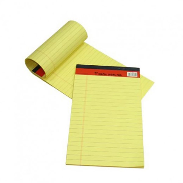 Sinarline Writing Pad 50-sheets A5 - Yellow (pkt/10pcs)