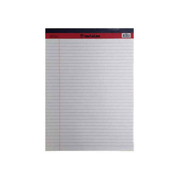 Sinarline Writing Pad 50-sheets A4 - White (pkt/10pcs)