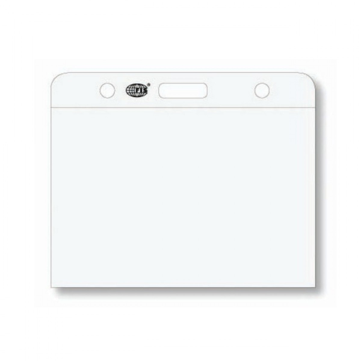 FIS Name Badge Holder 105 x 75mm FSNC105X75 - Transparent (box/50pcs)