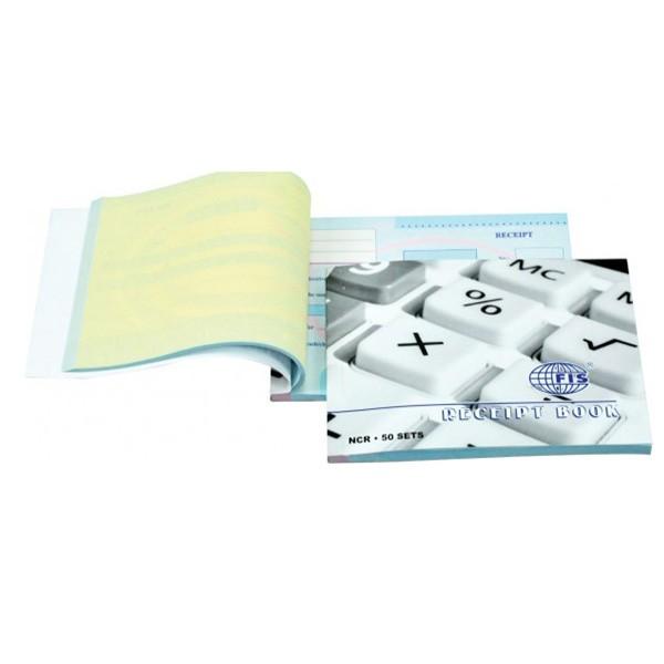 FIS Receipt Book 122 x 170 mm FSCL6EN - English (pkt/50sets)