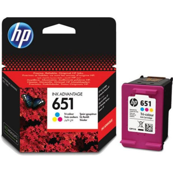 HP 651 Ink Cartridge (C2P11AE) - Tri-colour