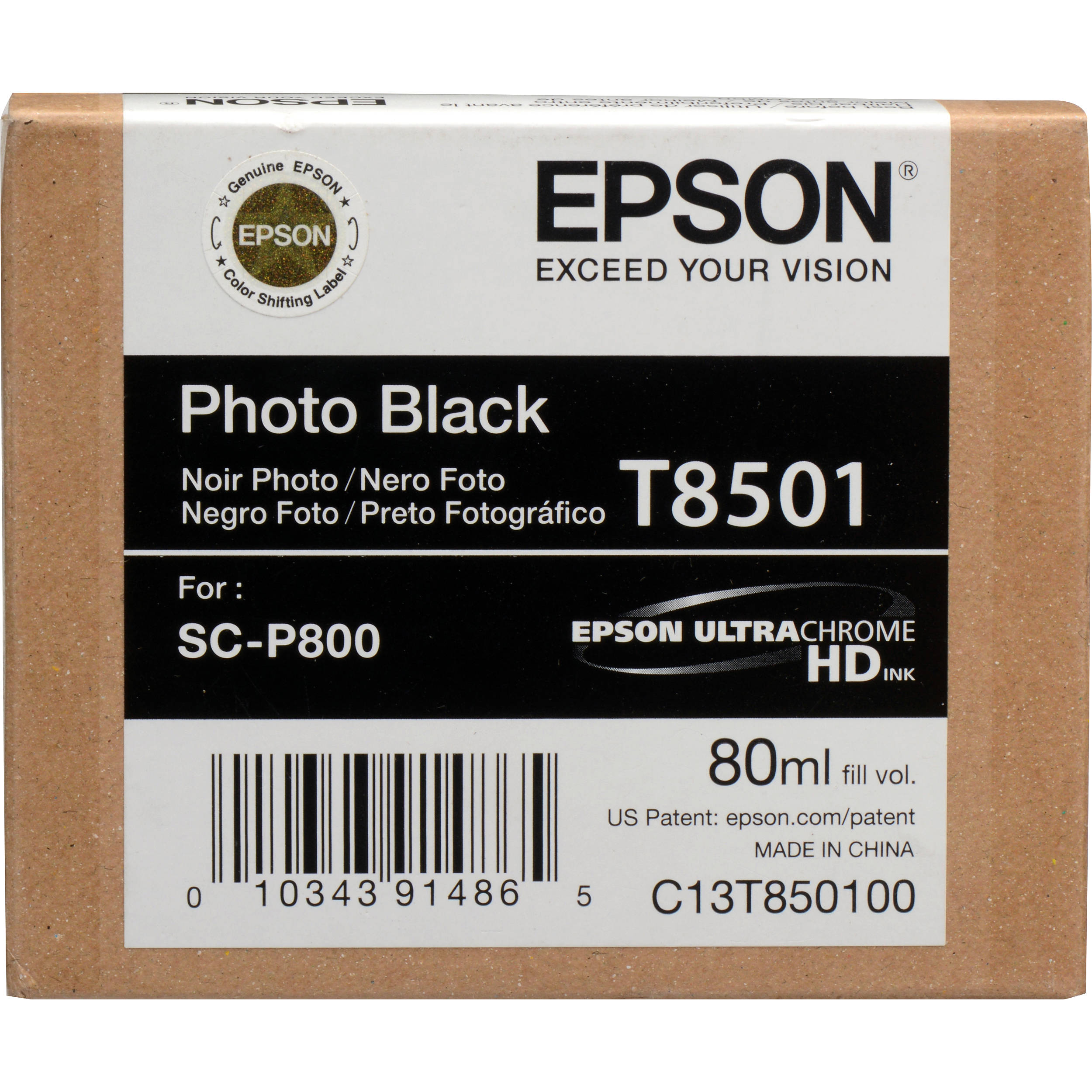 Epson T850100 Ink Cartridge - Photo Black