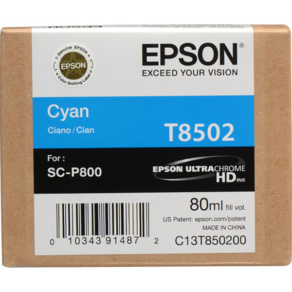 Epson T850200 Ink Cartridge - Cyan