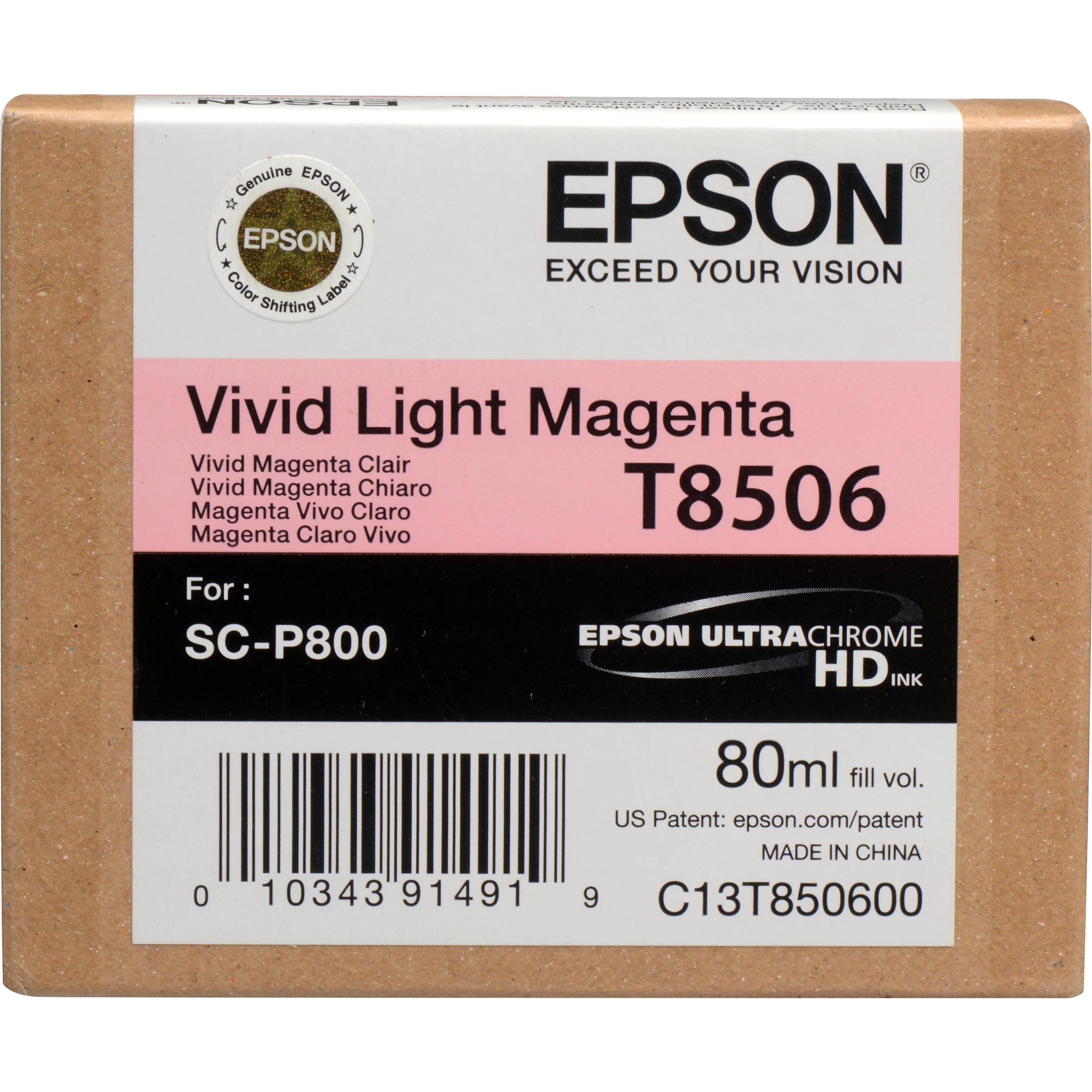 Epson T850600 Ink Cartridge - Light Magenta