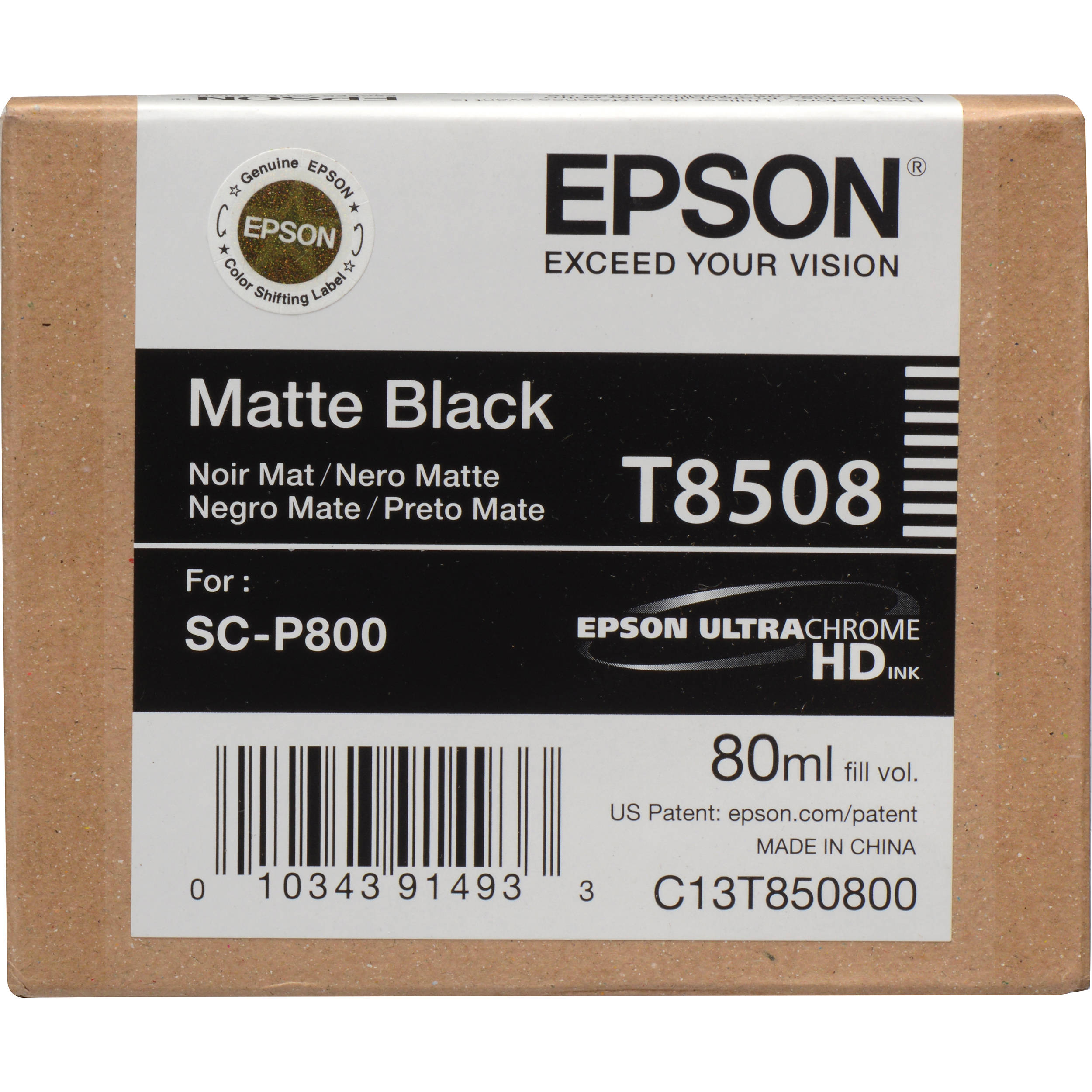 Epson T850800 Ink Cartridge - Matte Black