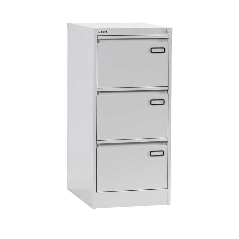 Rexel RXL303ST 3-Drawer Filing Cabinet - Grey