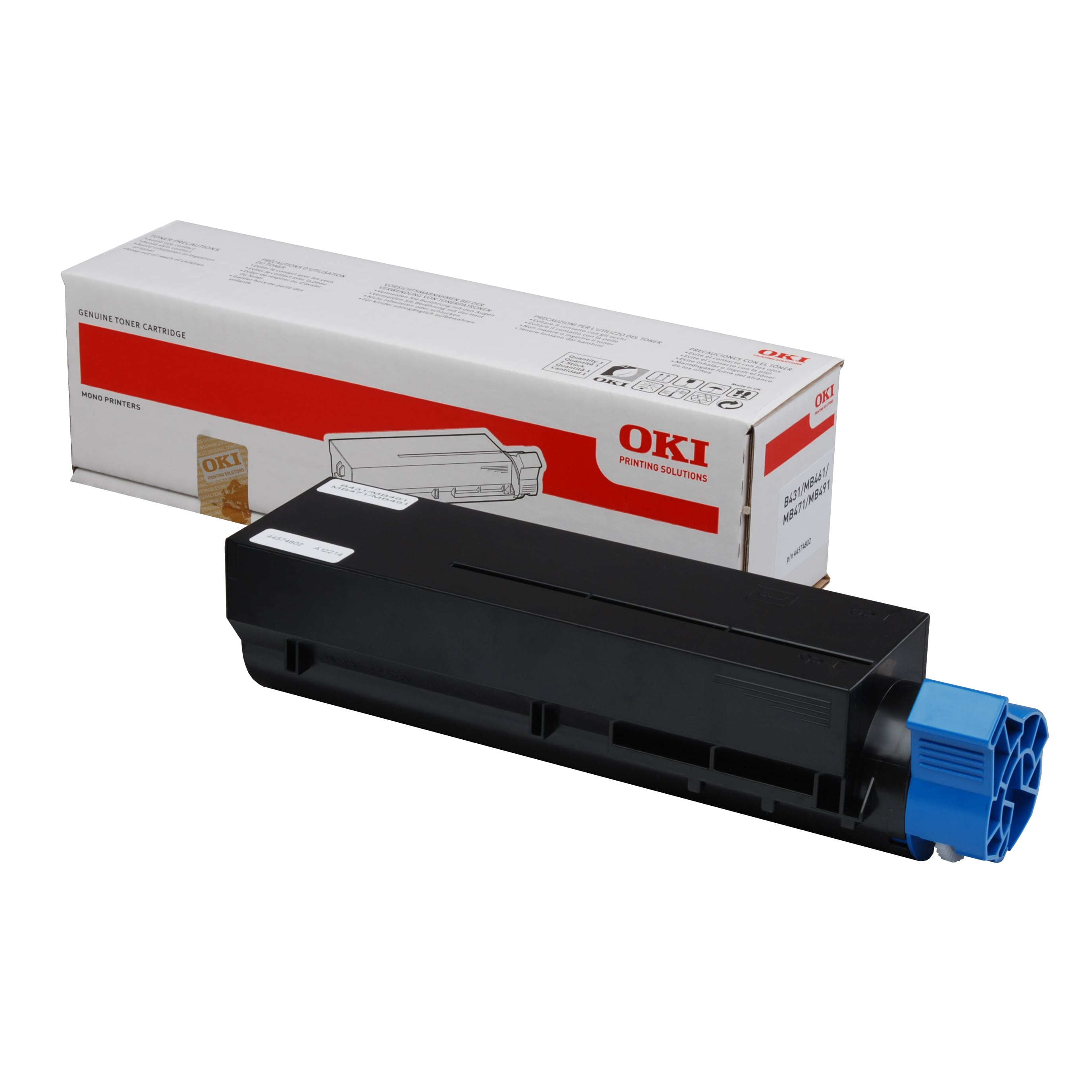 Oki 44574702 Toner Cartridge - Black