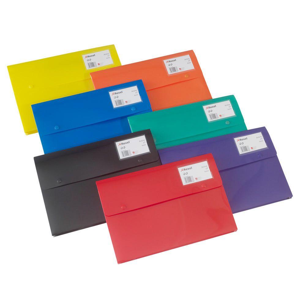 Rexel A4 Document Wallet - Green (pc)