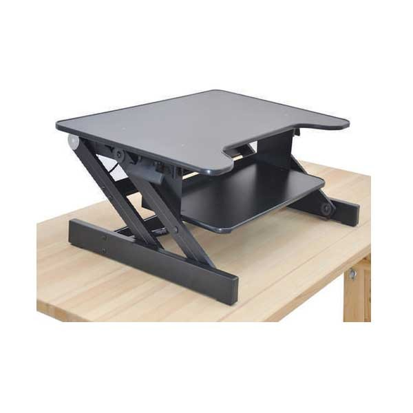 NES ERGODESK Table Top Workstation - Black