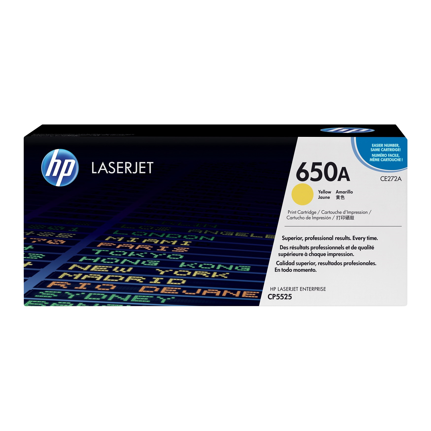 HP 650A Toner Cartridge (CE272A) - Yellow