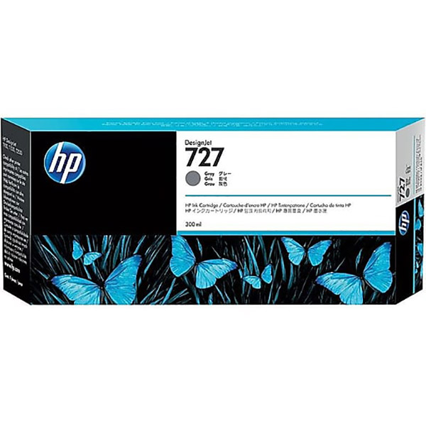 HP 727-300ml DesignJet Ink Cartridge (F9J80A) - Gray