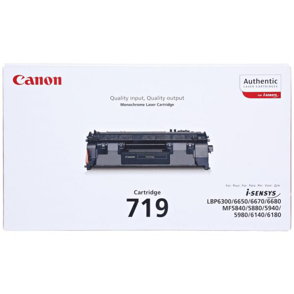 Canon 719 Toner Cartridge - Black