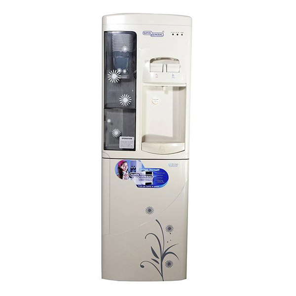 Super General SGL 1171 Water Dispenser With Cabinet - Off White