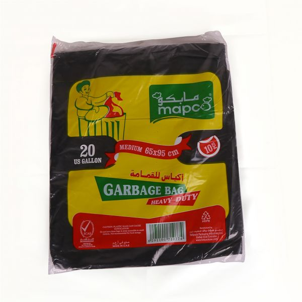 Hotpack Heavy Duty Garbage Bag 30 gallon 65 x 95 cm - Black (pkt/10pcs)