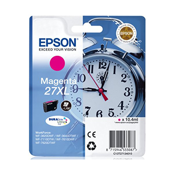 Epson Alarm Clock No.27 XL High Capacity Ink Cartridge - Magenta