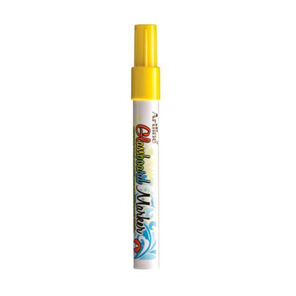 Artline ARMKEPG-4FYL Fluorescent Bullet Glassboard Marker 2.0 mm - Yellow (pkt/12pcs)