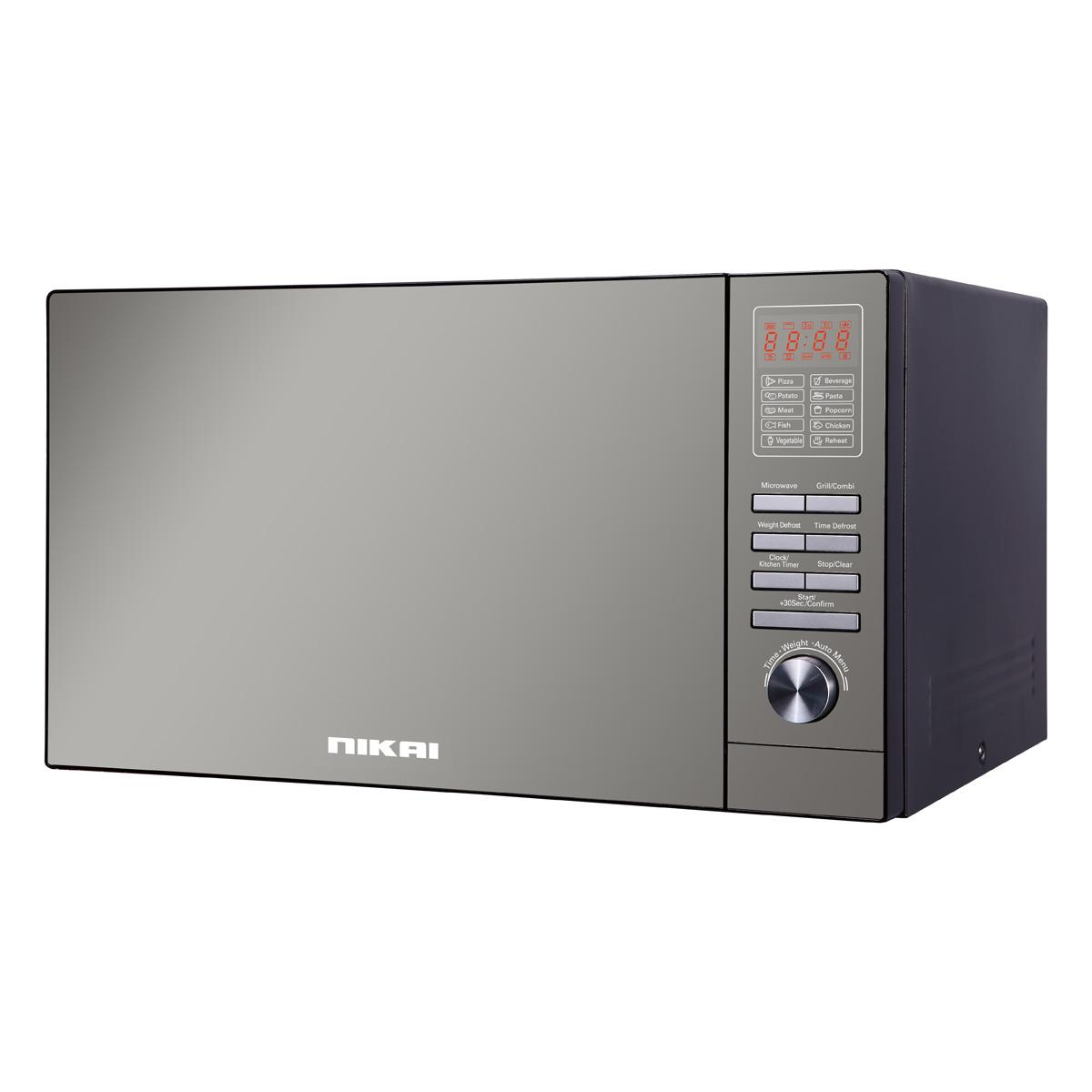 Nikai 25 Liter Microwave Oven NMO250MDG - Gray